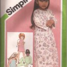 Simplicity 9790 (1980) Childs Girls Pullover Nightshirt Pajamas Baby Dolls Pattern Size 3 4 UNCUT