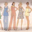 Simplicity 6865 (1975) Vintage Maternity Dress Jumper Top Pants Shorts Pattern Size 8 PART CUT