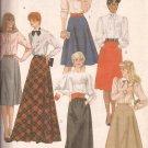 McCalls 8222 (1982) Skirt Yoke Inverted Pleats Pockets Zipper Pattern Size 18 UNCUT