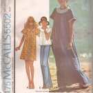 McCalls 5502 (1977) Vintage Caftan Dress Top Panties Pattern Size Medium 14 16