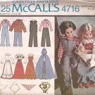 McCalls 4716 (1975) Vintage Boy Girl Doll Clothes Bicentennial Costumes Pattern PART CUT
