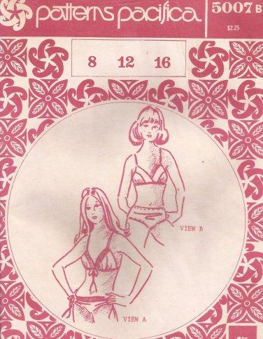 Patterns Pacifica 5007b Vintage Bikini Two Piece Swim Suit Pattern Size 8 12 16 UNCUT