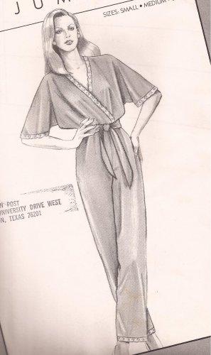 Stretch & Sew Ann Person  5230 (1984) Jumpsuit Wrap Top Dolman Sleeves Pattern Size S M L UNCUT