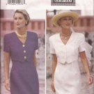 Butterick 3481 (1994) Short Sleeve Dress Mock Jacket Overlay Pattern Size 18 20 22 UNCUT