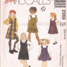 McCalls 2369 (1999) Child Girls Jumper Dress Pattern Size 7 8 10 UNCUT