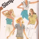 Simplicity 5509 (1982) Pullover Tops Ruffles Short Sleeve Strapless Pattern Size 12 UNCUT