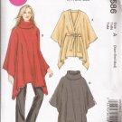 McCalls 6586 (2012) Poncho Wrap Jacket Coat Pattern Size XS S M UNCUT