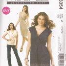 McCalls 6354 (2011) Easy Pullover Mock Wrap Top Dress Tunic Pattern Size L XL UNCUT