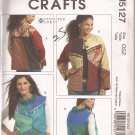 McCalls 5127 (2006) Color Block Button Front Jacket Vest Pattern Size S M L XL UNCUT