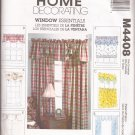 McCalls 4408 (2004) Window Valance Curtain Panels Pattern UNCUT
