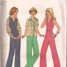 Simplicity 7929 (1977) Vintage Halter Jumpsuit Jacket Pattern Size 10 UNCUT