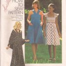 Simplicity 7332 (1976) Vintage Junior Teens Misses Dress Shawl Pattern Size 12 UNCUT