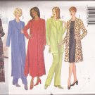 Butterick 5753 Petite Jacket Duster Dress Top Pants Pattern Size 14 16 18 UNCUT