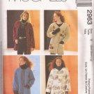 McCalls 2963 (2000) Oversized Unlined Jacket Pattern Size S M L 8 10 12 14 16 18 UNCUT