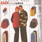 McCalls 2971 (2000) Misses, Mens, Teens Jacket Vest Top Pants Hat Pattern Size S M L UNCUT