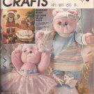 McCalls 2818 (1986) Stuffed Bear Doll Clothes Ballet Aerobic Dress Pants Shoes Hat Pattern UNCUT