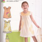 New Look P6043 (2011) Girls Childs Dress Tote Purse Applique Pattern Size 3 4 5 6 7 8 UNCUT