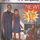 Simplicity 0668 (1996) Mother Daughter Girls Jumper Pattern Size XS S M L XL; 3 4 5 6 7 8 UNCUT