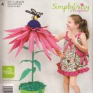 Simplicity E1825 (2012) Girls Childs Daisy Kingdom Dress Tote Purse Pattern Size 3 4 5 6 7 8 UNCUT
