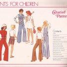Creative Patterns F4 (1977) Vintage Child Boy Girl Wide Leg Pants Jumpsuit Pockets Pattern UNCUT