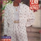 Butterick 6761 (1993) See & Sew Jacket Split Skirt Pattern Size 6 8 10 UNCUT