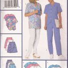 Butterick 5560 (2001) Uniform Scrubs Pants Top Dress Skort Pattern Size 8 10 12 14 16 18 UNCUT