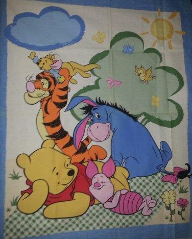 Winnie the Pooh Tigger Piglet Eyore Baby Child Blanket Quilt Top