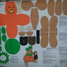 Trick or Treat Halloween Teddy Bear Cut and Sew Fabric Doll