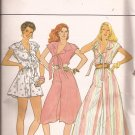 Butterick 4411 RARE Vintage Culotte Dress Jumper Wide Leg Pattern Size 12 14 16 UNCUT
