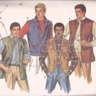 Butterick 6970 Mens Sleeveless Vest Shirt Jacket Pattern Size 44 UNCUT