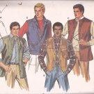Butterick 6970 Mens Sleeveless Vest Shirt Jacket Pattern Size 44 UNCUT