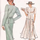 Vogue 9931 (1987) Princess Seam Top Flared Straight Skirt Pattern Size 14 16 18 UNCUT