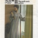 Butterick 3916 Misses Vintage Pullover Long Bell Sleeve Caftan Pattern Size Small 8 10 CUT