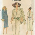 Vogue 7291 Very Easy Vintage Misses Unlined Jacket Dress Pattern Size C 10 12 UNCUT