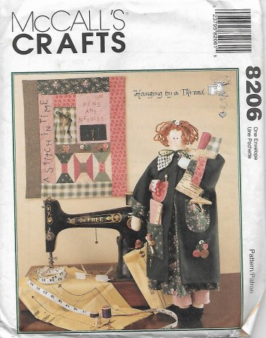 McCalls 8206 (1996) Vintage Sewing Doll Quilt Pattern UNCUT