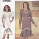 Butterick 3184 (1993) Misses Petite Designer Leslie Fay Dress Flounce Pattern Size 8 10 12 UNCUT