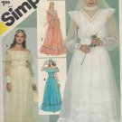 Simplicity 5217 (1981) Wedding Bridesmaids Formal Evening Gown Pattern Size 8 UNCUT