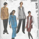 McCalls 8475 (1996) Vest Top Pants Skirt Pattern Plus Size 22W 24W 26W 40 42 44 UNCUT