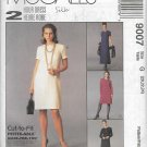 McCalls 9007 (1997) Petite-able Dress Sleeve Neck Variations Pattern Plus Size 20 22 24 UNCUT