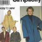Simplicity 7346 (1996) Jacket Poncho Pattern Size S M L XL 18W 20W 22W 24W 26W 28W 30W 32W UNCUT