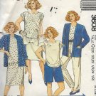 McCalls 3608 (1988) Unlined Jacket Top Skirt Pants Plus Half Size Pattern 20.5  22.5  24.5 UNCUT