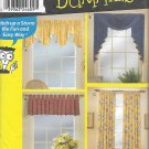 Simplicity 9566 (2001) Window Treatment Topper Swag Jabot Tab Curtain Pattern UNCUT