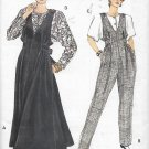 Vogue 7874 (1990) Petite Maternity Jumper Jumpsuit Front Button Top Pattern Size 14 16 18 CUT to 14