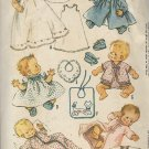 McCalls 6214 Vintage Infant Baby Layette Christening Dress Coat Bonnet Booties Kimono Pattern UNCUT
