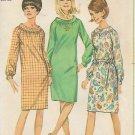 Simplicity 6621 Vintage Dress Raglan Sleeves Cuffs  Gathered Neck Bias Collar Pattern Size 16 UNCUT