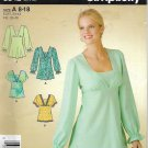 Simplicity 3842 ( 2007) Pullover Bias Tunic Top Kimono Inset Pattern Size 8 10 12 14 16 18 UNCUT