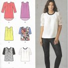 Simplicity 1253 (2014) Pleated Top Blouse Sleeve Hem Variations Pattern Size 12 14 16 18 20 UNCUT
