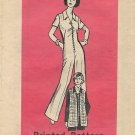 Vintage Printed Pattern Mail Order 9349 Zip Front Jumpsuit Jacket Size 10 CUT