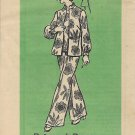 Vintage Mail Order Printed Pattern 4818 Top Blouse Jacket Pants Size 20 1/2 UNCUT