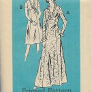 Vintage Mail Order Printed Pattern 4550 Dress Size 20 1/2 UNCUT